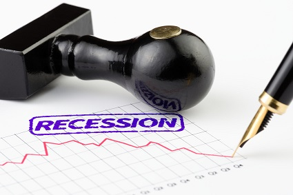 graph showing a recession
